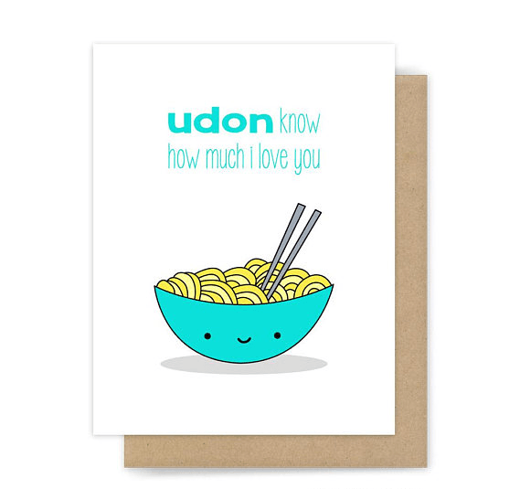 udon know funny greeting card