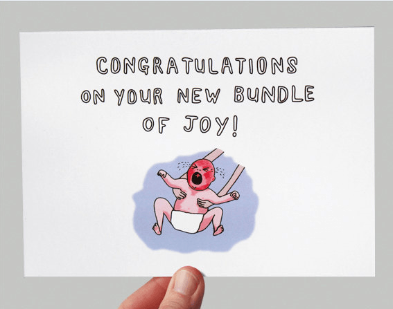 New bundle of joy funny greeting card
