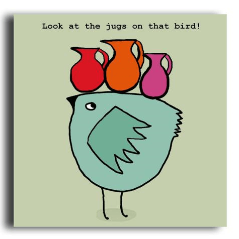 Look at the jugs on that bird funny greeting card