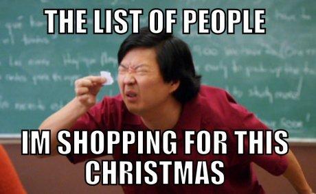 shopping for Christmas