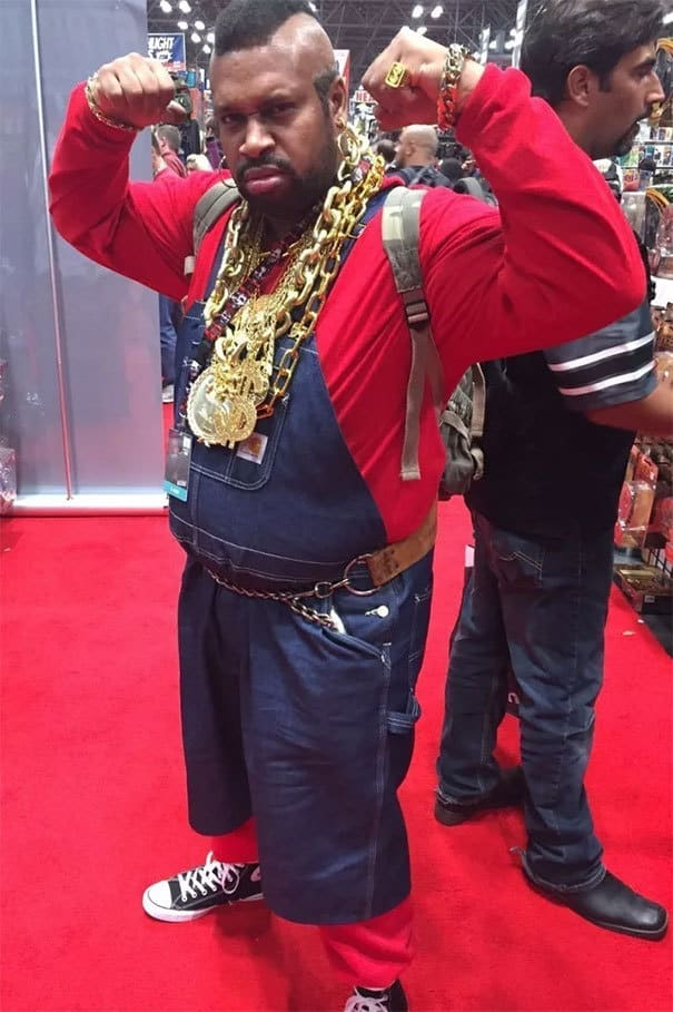 Spot on Mister T Cosplay