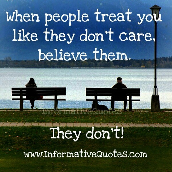 you dont care quotes