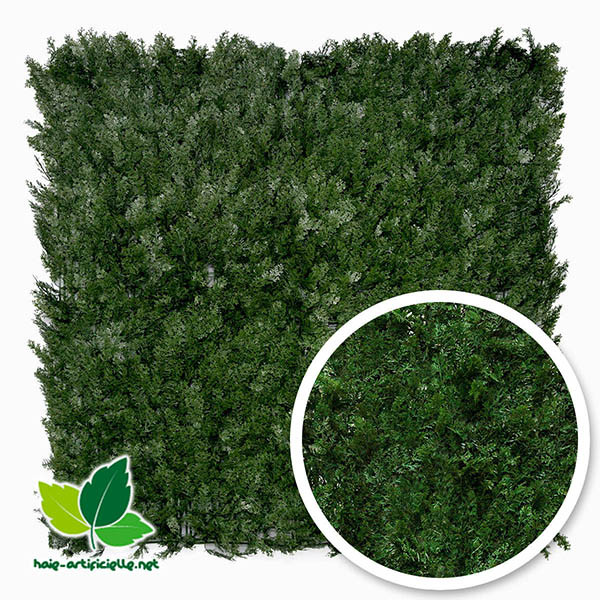 feuillage artificiel en cypes 1m x 1m france green haie artificielle mur vegetal artificiel