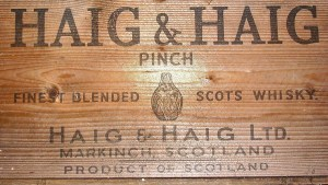 Haig and Haig Whisky Crate