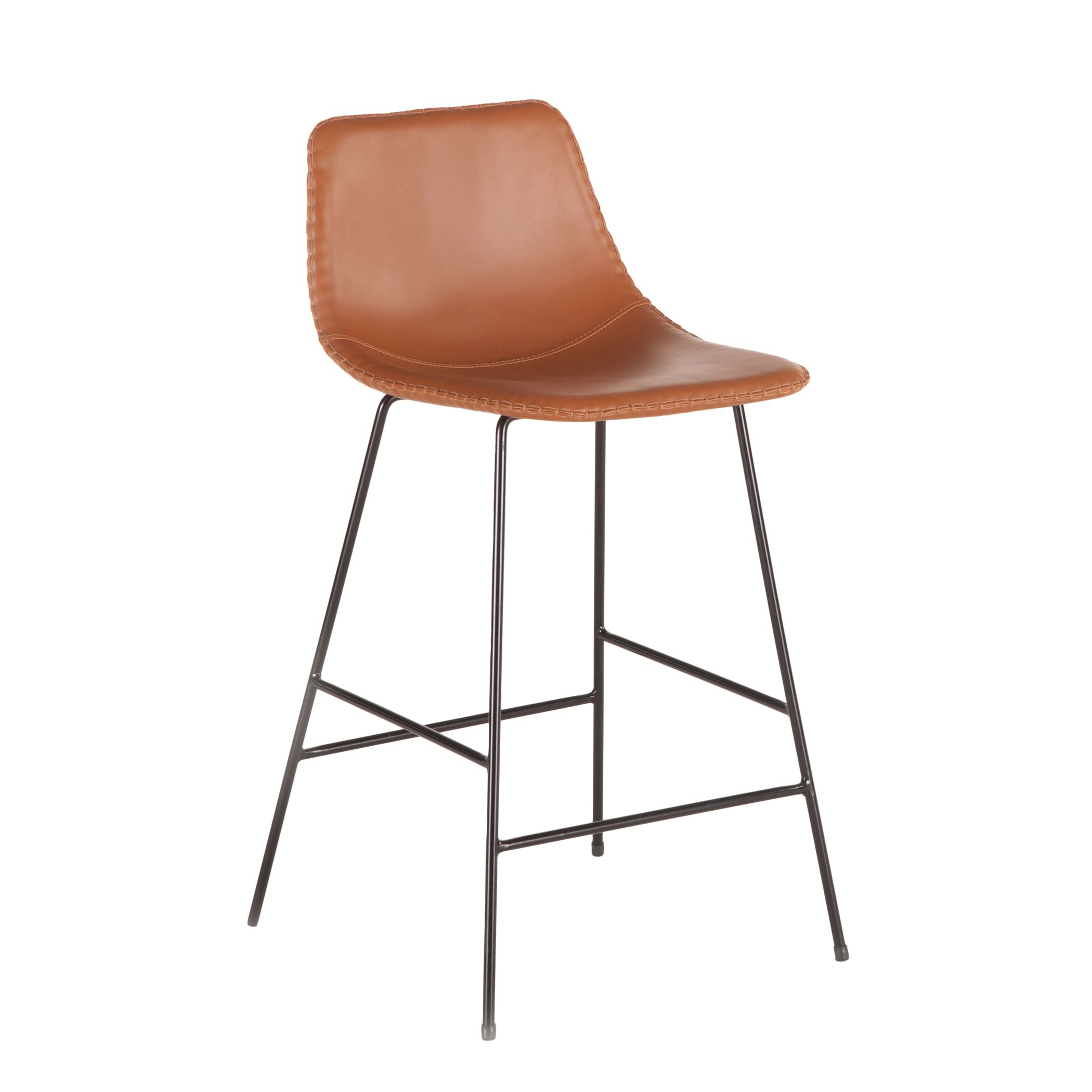 hudson faux leather counter chair set