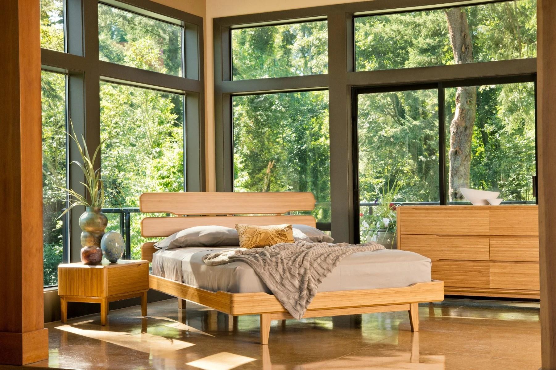 currant bamboo platform bed haiku designs