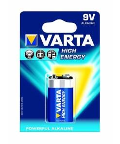VARTA High Energy 9 Volt Alkaline Battery 1 Pack