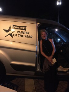 Photo of Claire with Painter of the year van