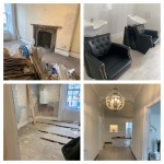 Interior of Hair Solved Glasgow before and after refurbishment