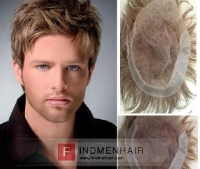 Full Lace Front Light Density Blonde Mens Wigs In Ireland