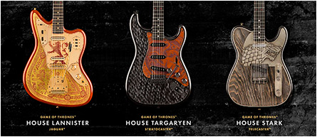 Game of Thrones guitars