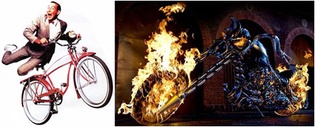 Ghost Rider, Pee Wee's Big Adventure