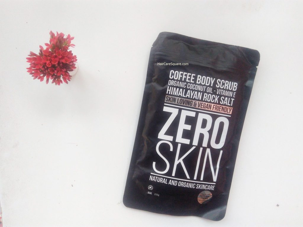 zero skin coffee body scrub for cellulite review