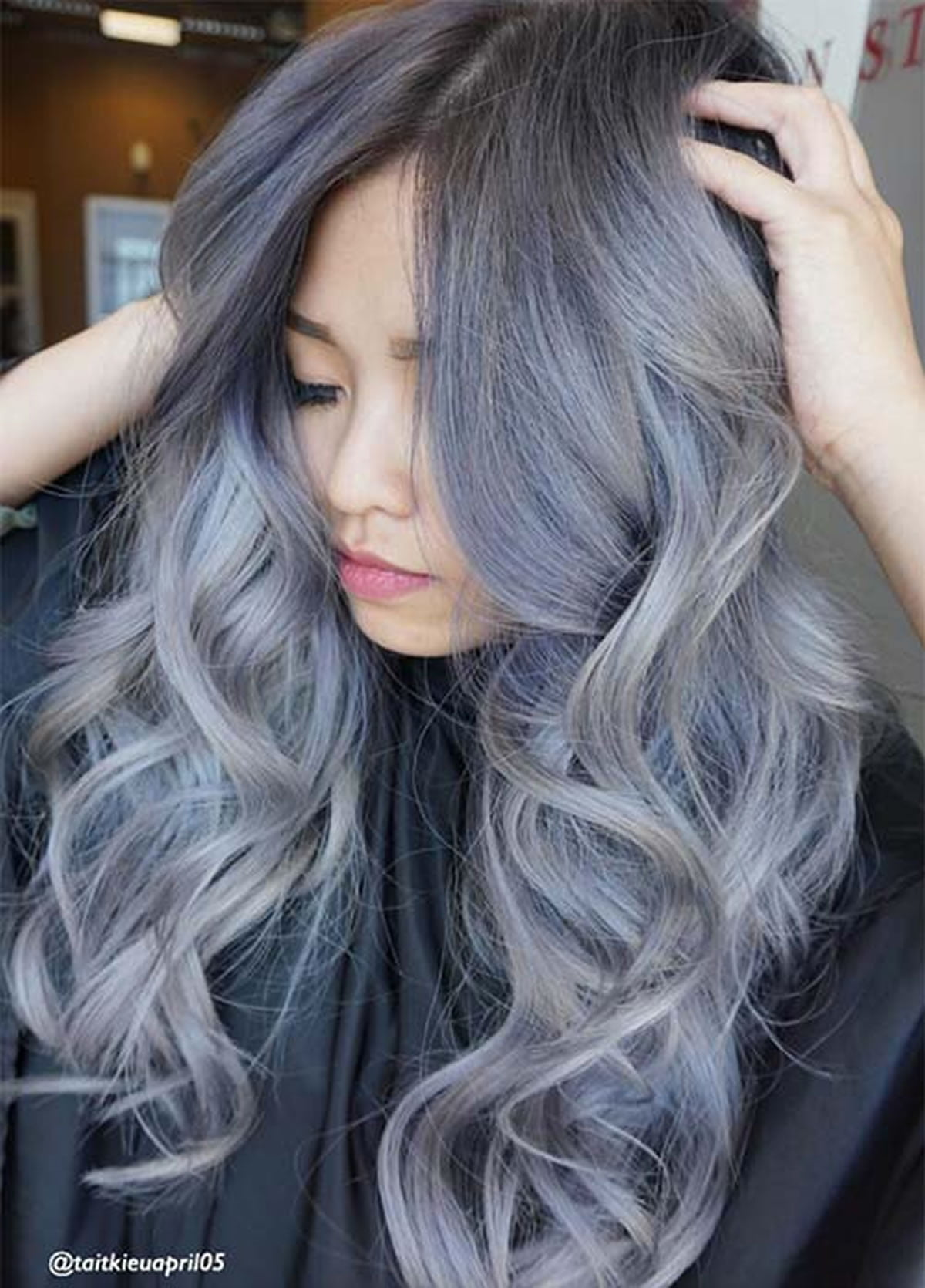 Gray Hair Color Ideas 2018 2019 Long Hair Tutorial