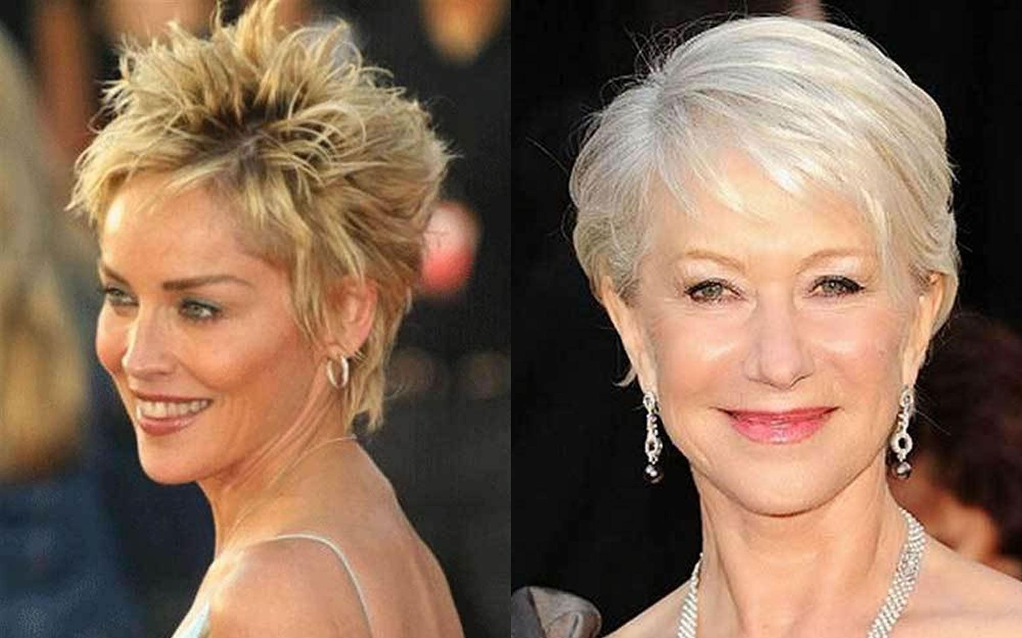 Short Haircut Images For Older Women Amp Pixie Bob Fine