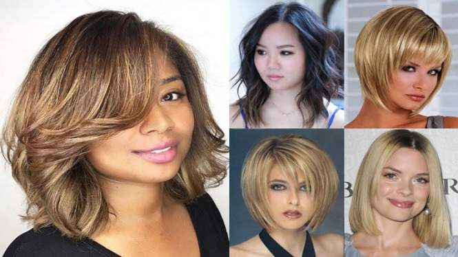 Medium Hairstyles For Round Faces And Fine Hair Hairstyle