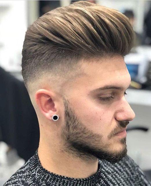 Slick Back Taper Fade Haircut