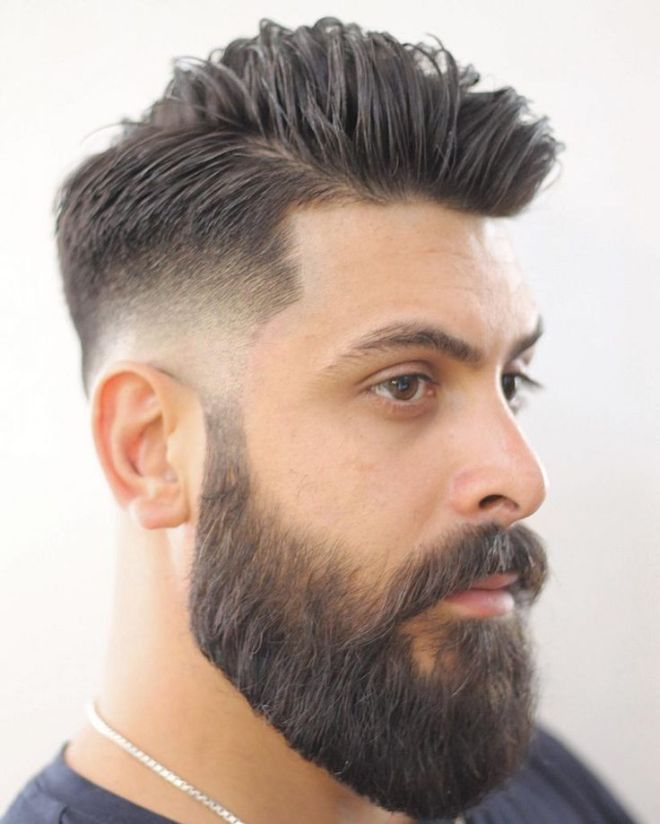Low Fade With Full Beard
