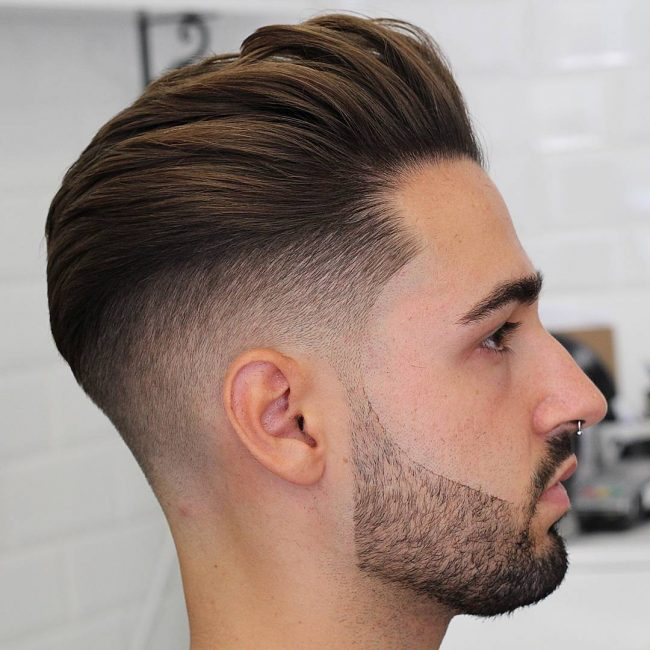 Undercut Hairstyle With Shape Bread