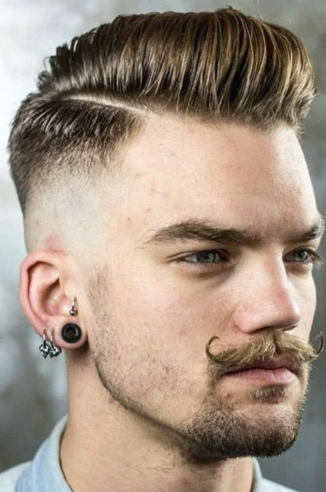 Comb Over Taper Fade Hairstyle