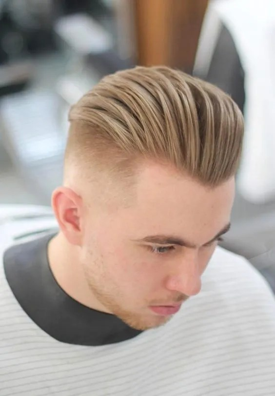 Slick Back Haircuts For Round Face