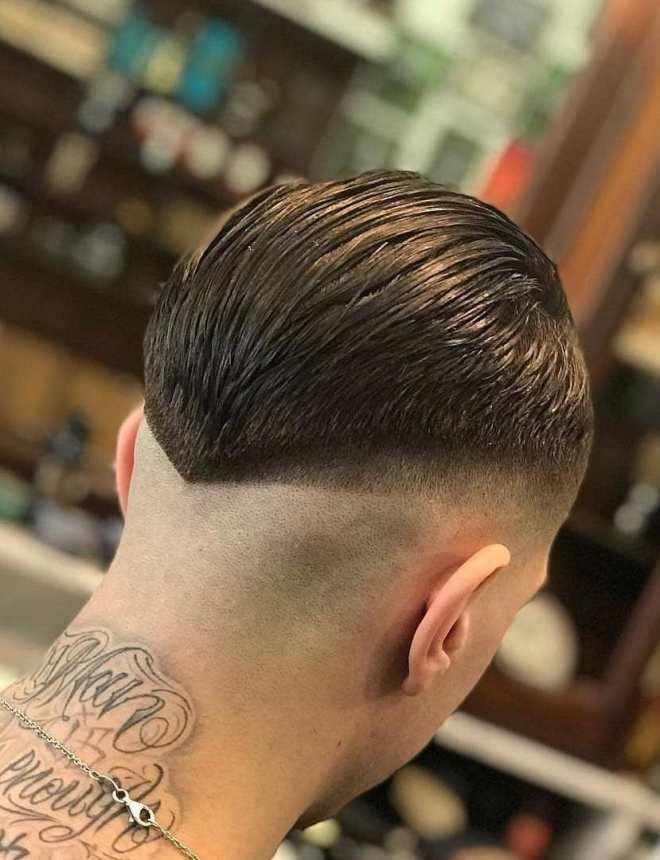 V Shape Drop Fade Hairstyle