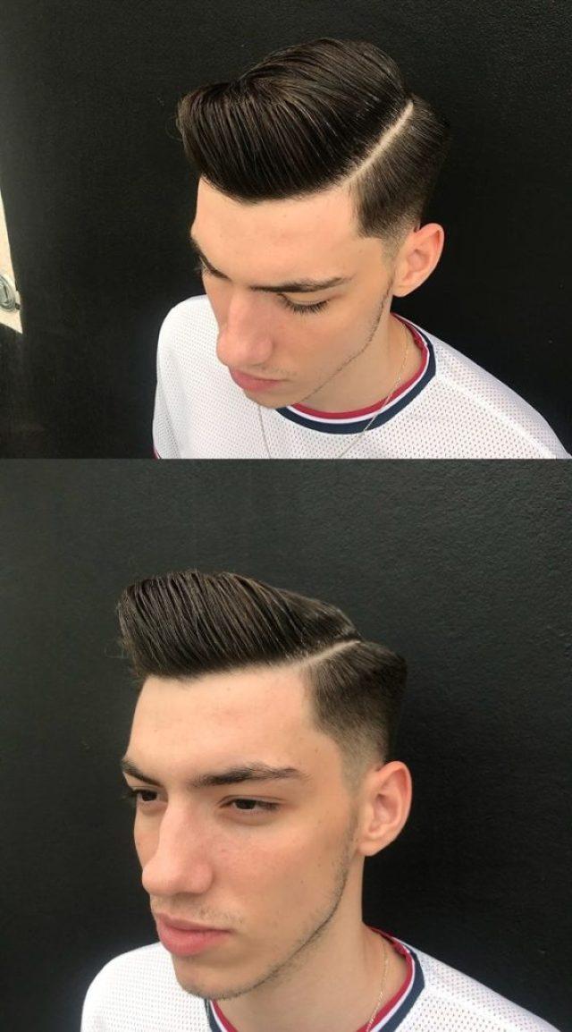 Razor Fade Side Part Haircut