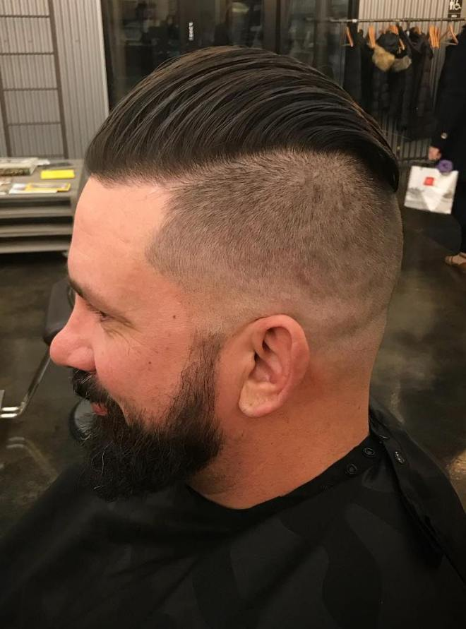 Under Cut Slick Back Hairstyle