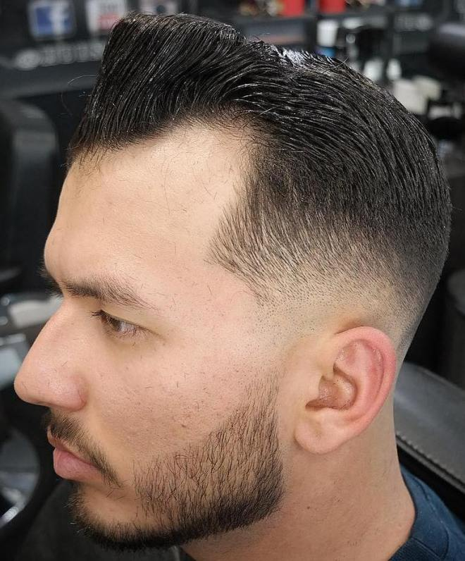 Fade with Receding Hairline