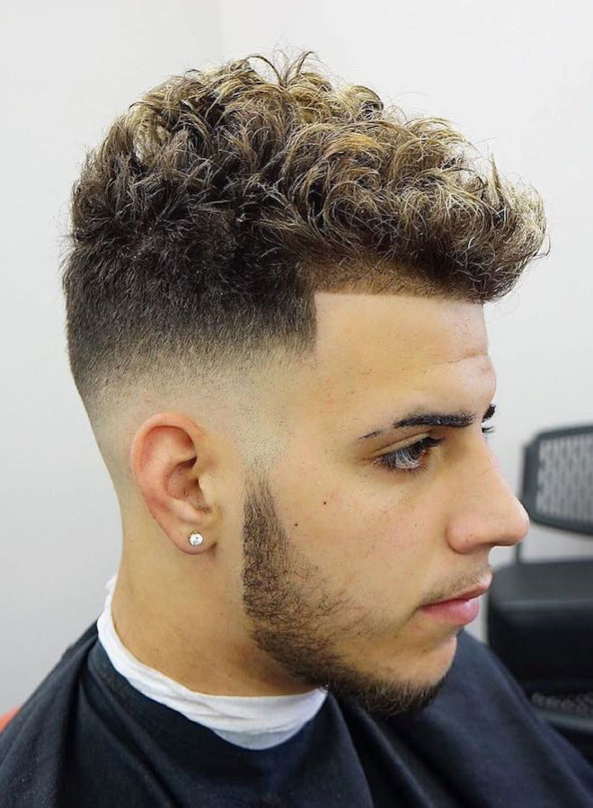 Fade with Curly Hair