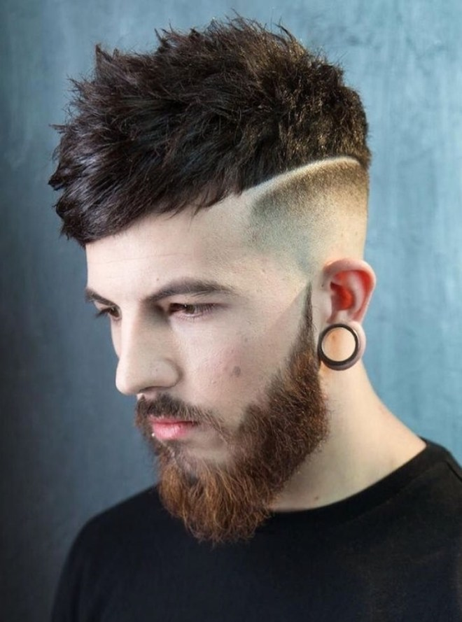 Fade with Hipster Hairstyle