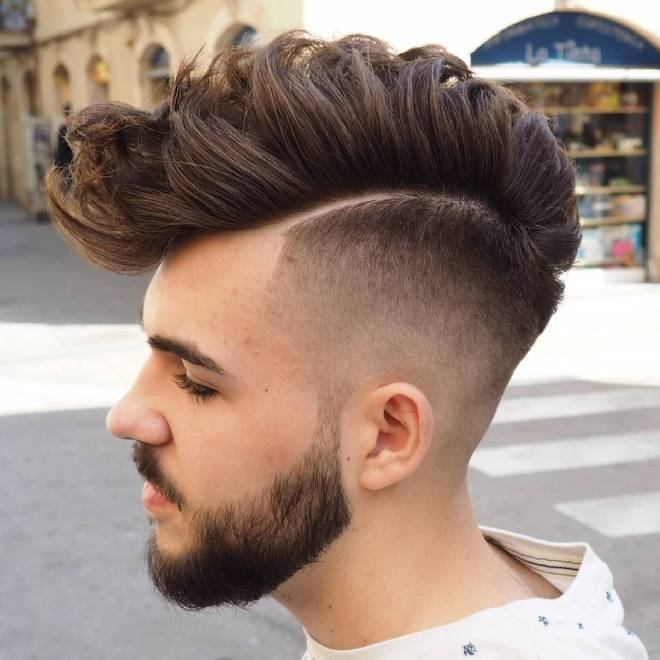 Fade with Mohawk Hairstyle