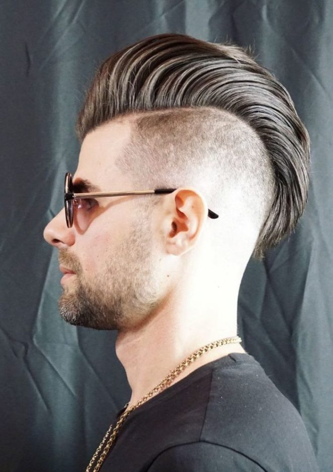 Pompadour Mohawk Hairstyle