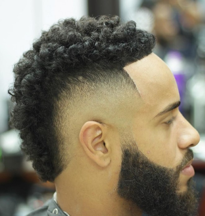 Black Mens Mohawk Hairstyle