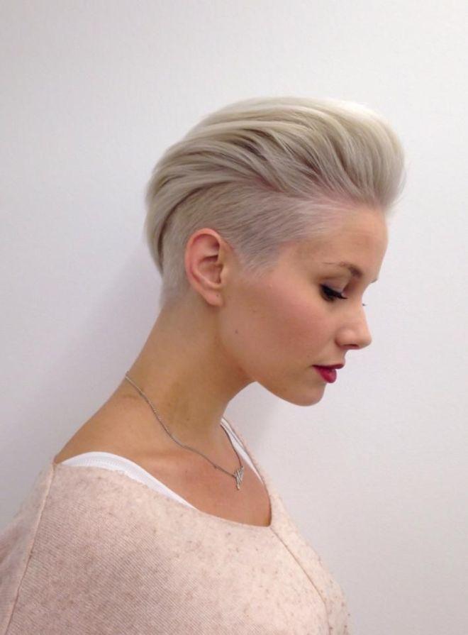 Undercut Slick Back Short Hairstyle