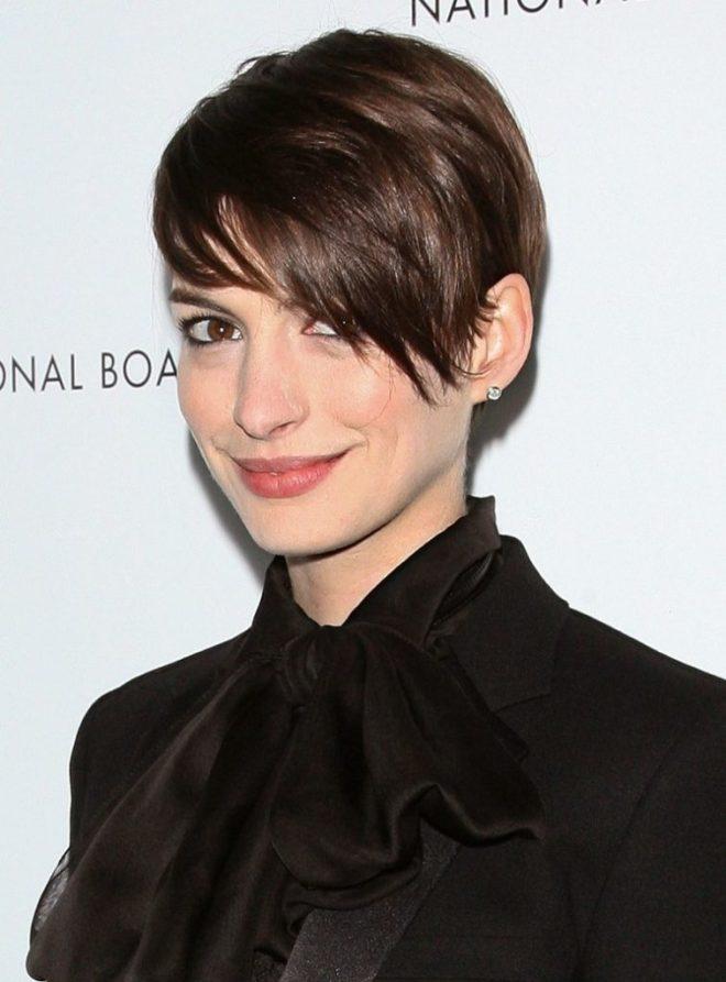 Short Haircut With Long Side Bangs