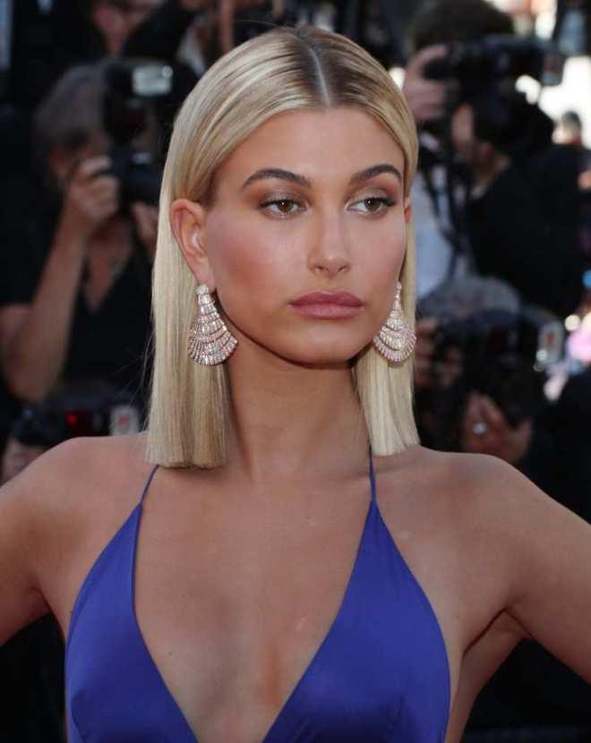Center Part Sleek Hairstyle