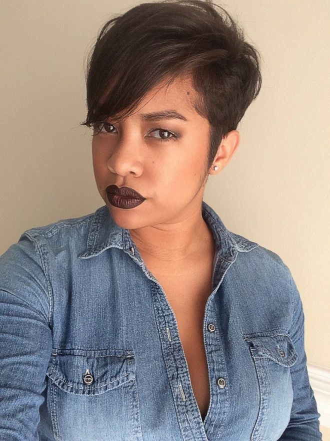 Tapered Pixie Cut Hairstyle
