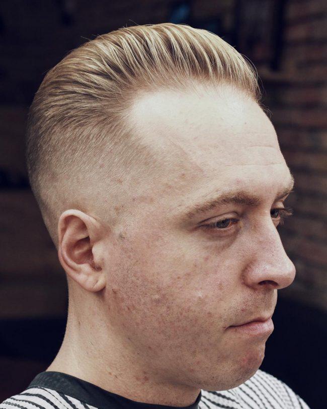 Receding Hairline Slick Back Hairstyle