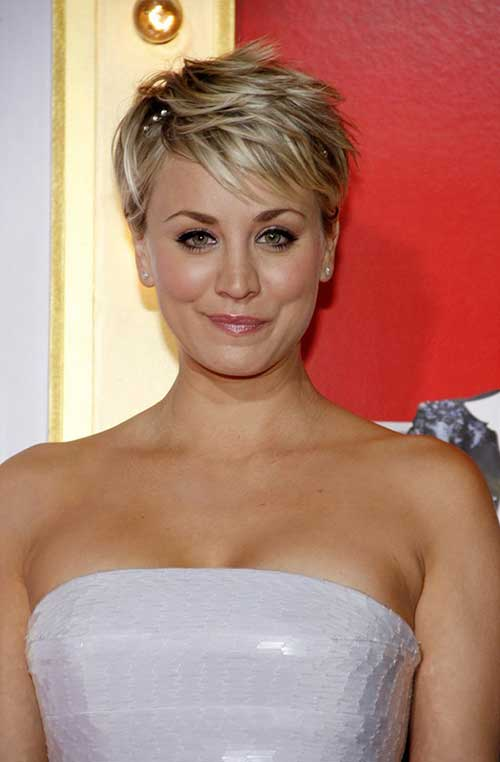 Blonde Pixie Cut Hairstyle