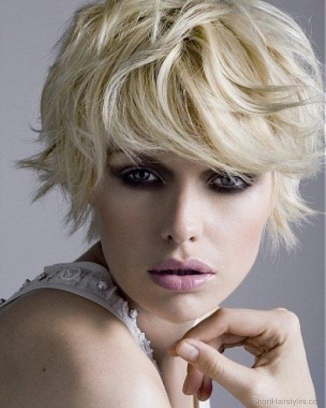 Messy Short Haircut for Blonde Hair