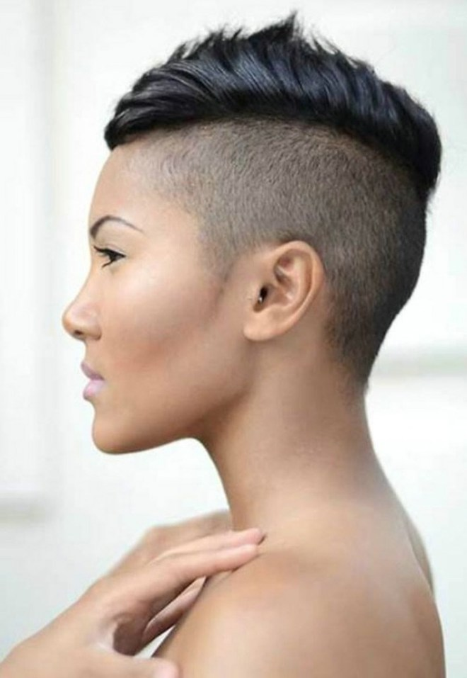 Side Shaved Short Hairstyle