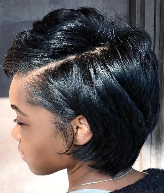 Side Part Hairstyle For Thick Hair