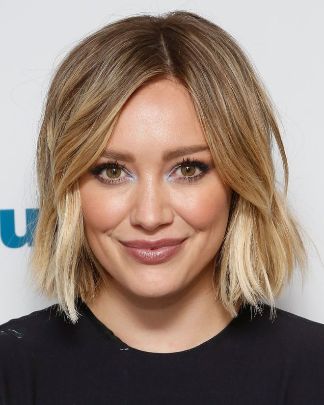 Center Part Layered Short Hairstyle