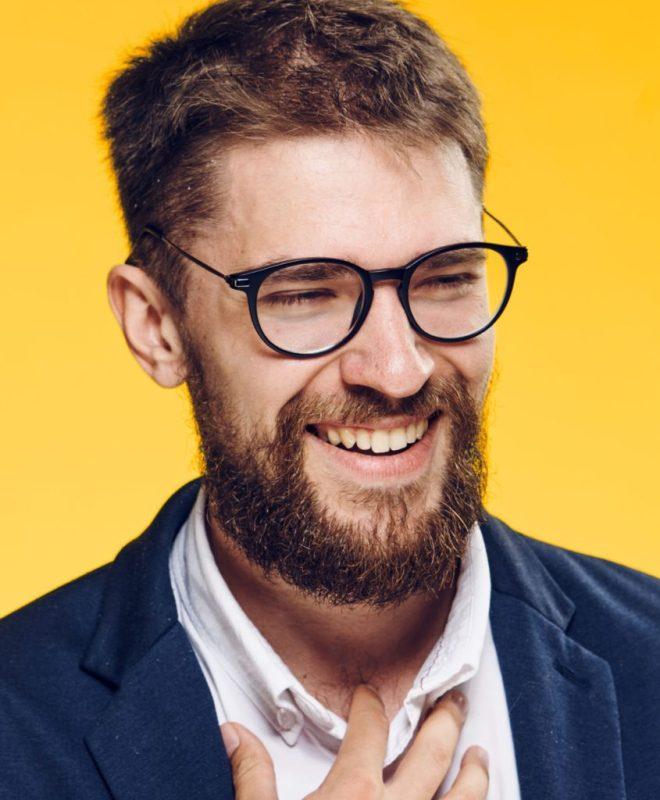 Messy Haircut with Beard