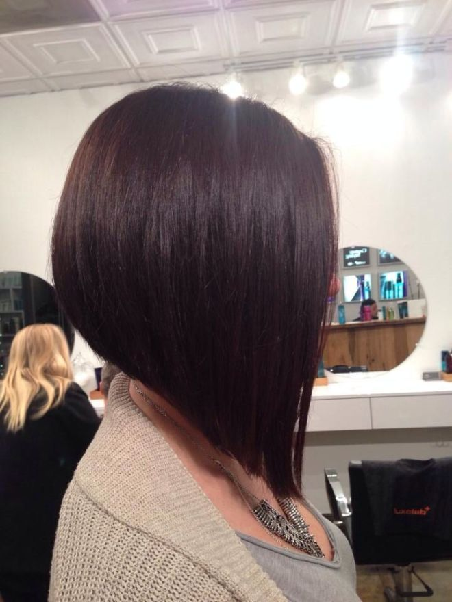 Inverted Bob Short Hairstyle for Thick Hair