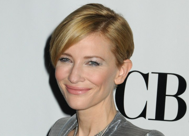 Cate Blanchett With Short Hair Easy And Refreshing Short