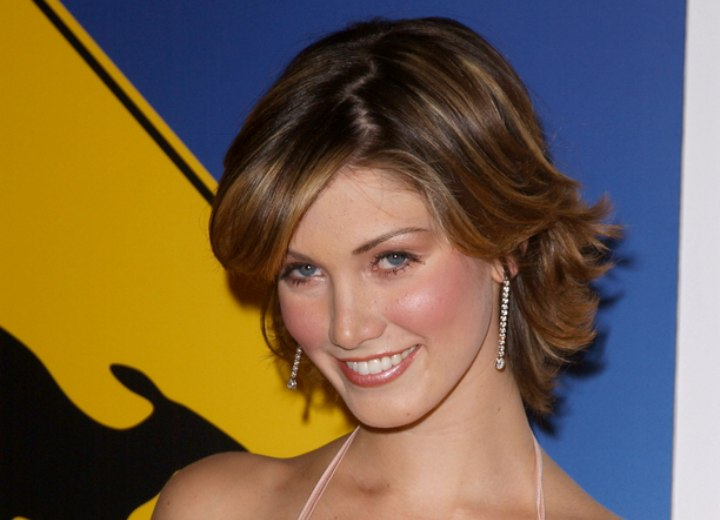 Delta Goodrem Young And Sporty Medium Long Hairstyle