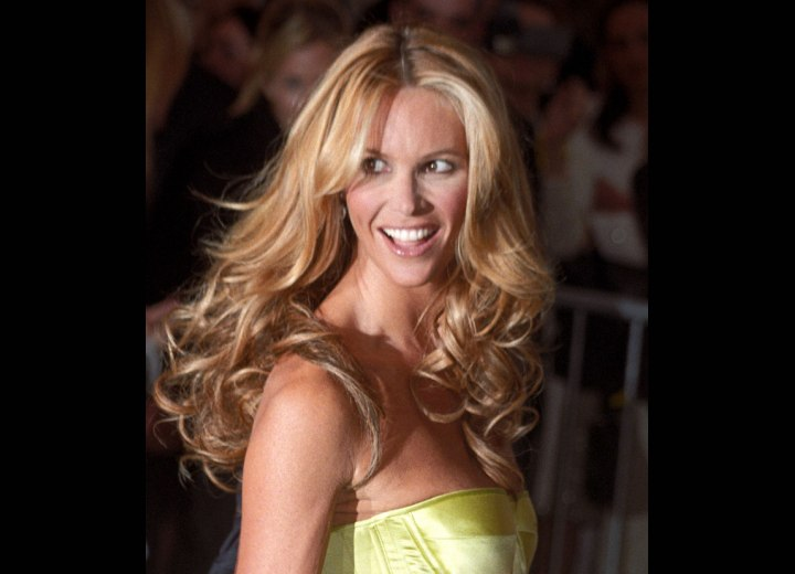 Elle MacPherson Long Middle Of The Back Hairstyle With