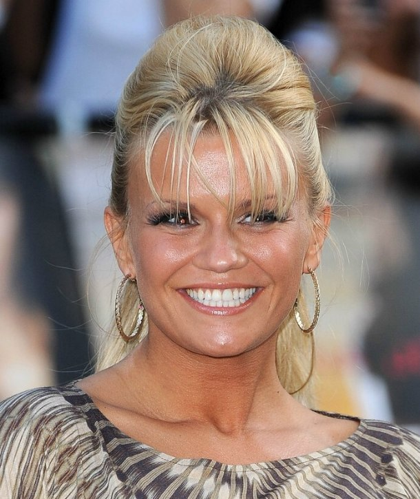 Kerry Katona Wearing Her Hair In A Bouncing Ponytail